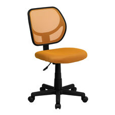 Mid-Back Orange Mesh Swivel Task Chair