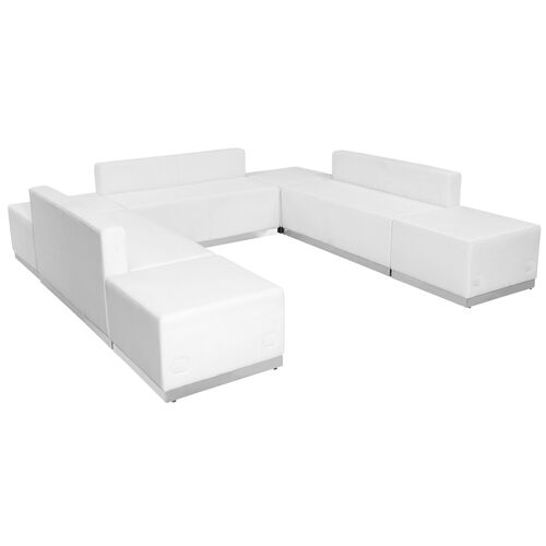 Our HERCULES Alon Series Melrose White Leather Reception Configuration, 7 Pieces is on sale now.