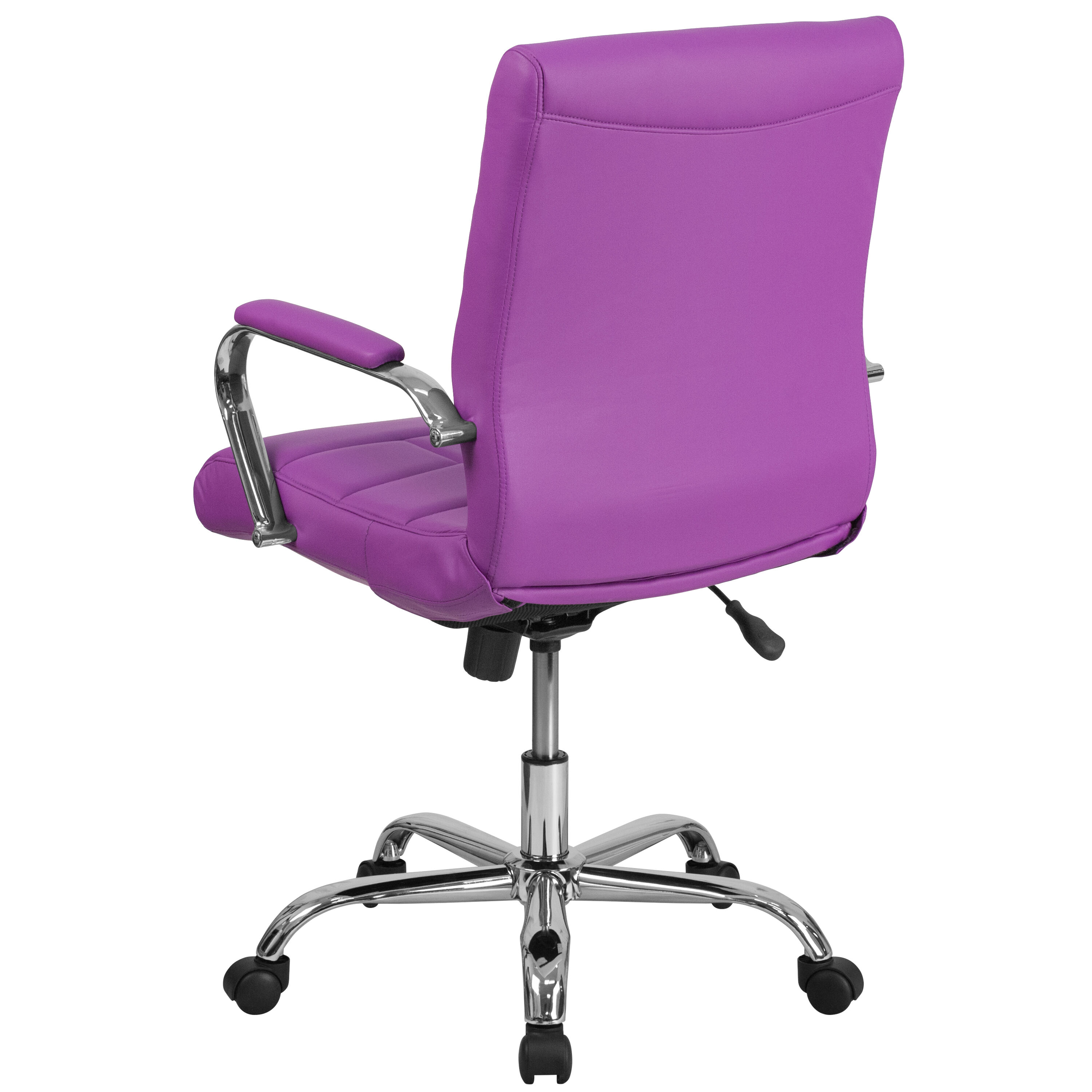 Merveilleux ... Our Mid Back Purple Vinyl Executive Swivel Chair With Chrome Base And  Arms Is On ...