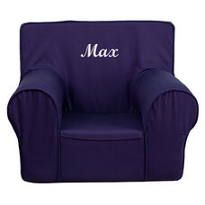 Personalized Small Solid Navy Blue Kids Chair