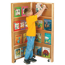 Mobile Library Bookcase - 2 Sections