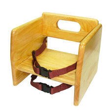 Natural Wood Stacking Booster Seat