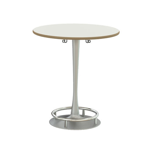 Our Focal™ Collision Table - White Surface Top with Silver Base is on sale now.
