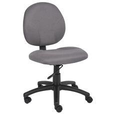Diamond Contoured Mid Back Task Chair - Grey