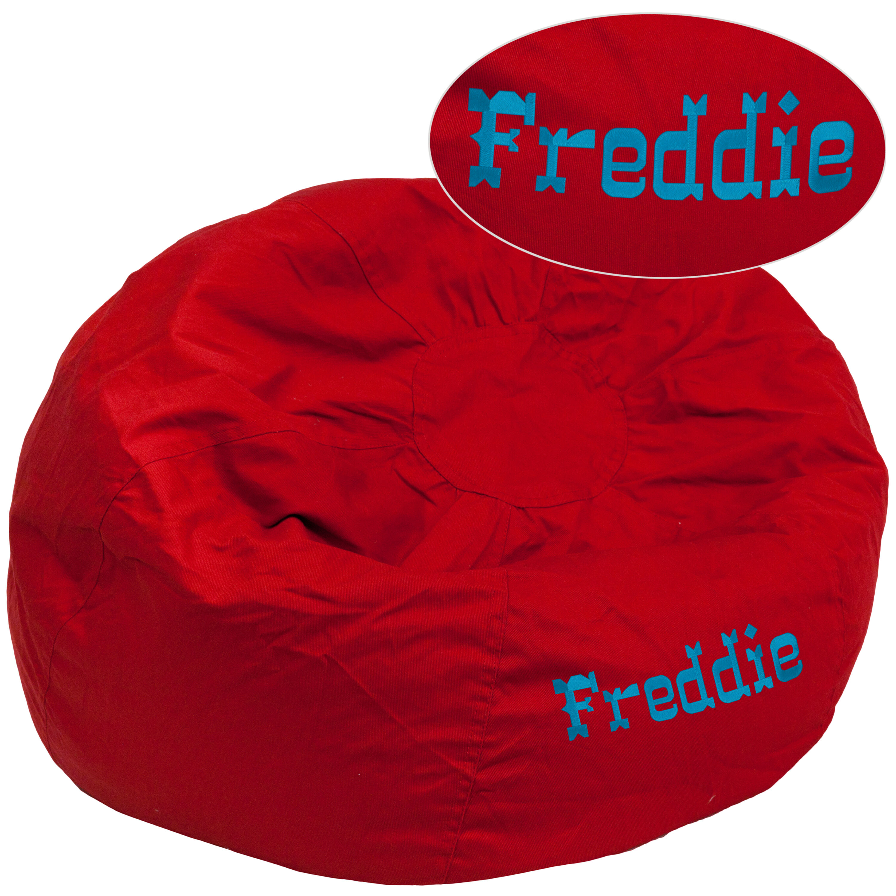 ... Our Personalized Oversized Solid Red Bean Bag Chair Is On Sale Now.