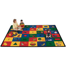 Blocks of Fun Alphabet and Things Rectangular Nylon Rug - 53