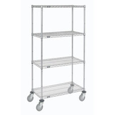 Wire Shelf Stem Caster Truck W/ Polyurethane Wheels - 21