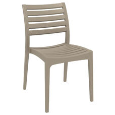 Ares Resin Outdoor Stackable Dining Chair - Dove Gray