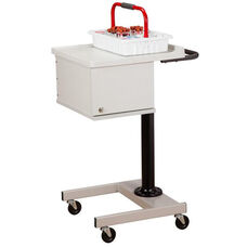 Small H Base Pneumatic Phlebotomy Cart with Two Removable Bins