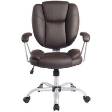 Techni Mobili Plush Task Chair - Chocolate