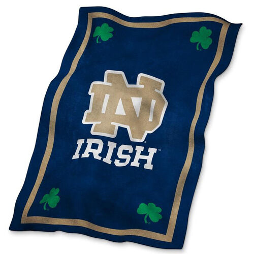 Our University of Notre Dame Team Logo Ultra Soft Blanket is on sale now.