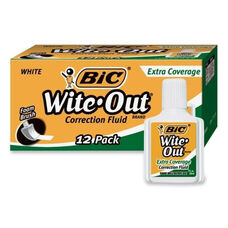Bic Correction Fluid - Extra Coverage Formula - 20ml - White