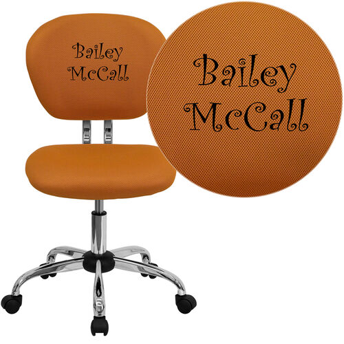 Our Embroidered Mid-Back Orange Mesh Padded Swivel Task Office Chair with Chrome Base is on sale now.