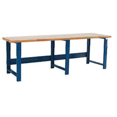 1.75'' Thick Solid Maple Top Work Table Production Bench - 36''D X 96''W - Height Adjustable