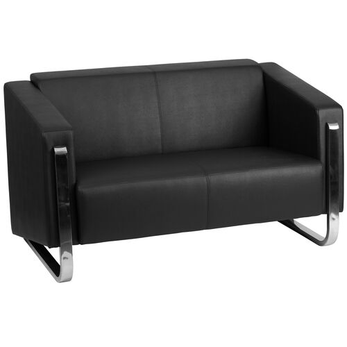 Our HERCULES Gallant Series Contemporary Black Leather Loveseat with Stainless Steel Frame is on sale now.