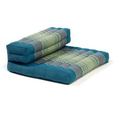 Dhyana Meditation Cushion with Built in Bolster - Aqua