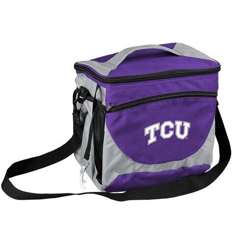 Texas Christian University Team Logo 24 Can Cooler