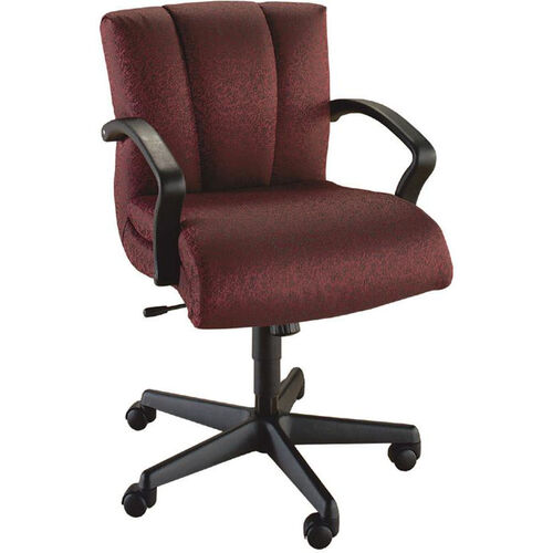 Our Quick Ship Trifecta Management Swivel Chair with Black Urethane Arms is on sale now.