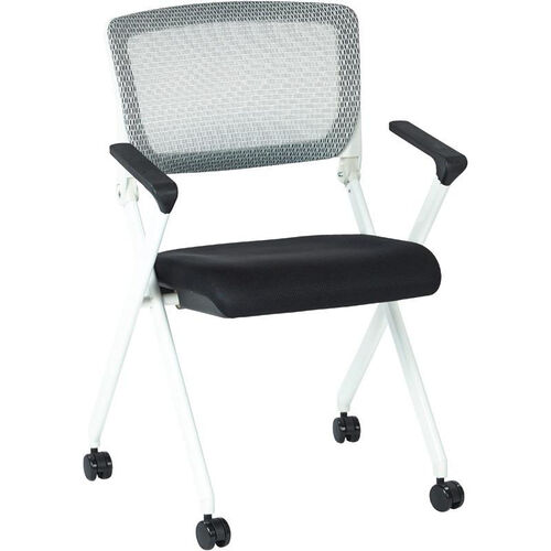 Our Space Pulsar Folding Chair with Breathable Mesh Back and Mesh Fabric Seat - Set of 2 - Black is on sale now.