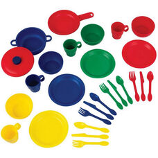Kids Make-Believe 27 Piece Plastic Kitchen Cookware Play Set - Primary