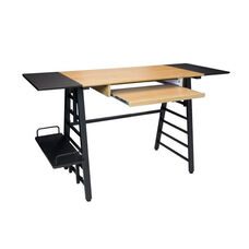 Ashwood Heavy Duty Steel Convertible Desk with Keyboard Shelf