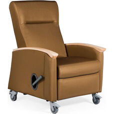 Harmony Mobile Medical Recliner with Closed Arms - Vinyl Upholstery