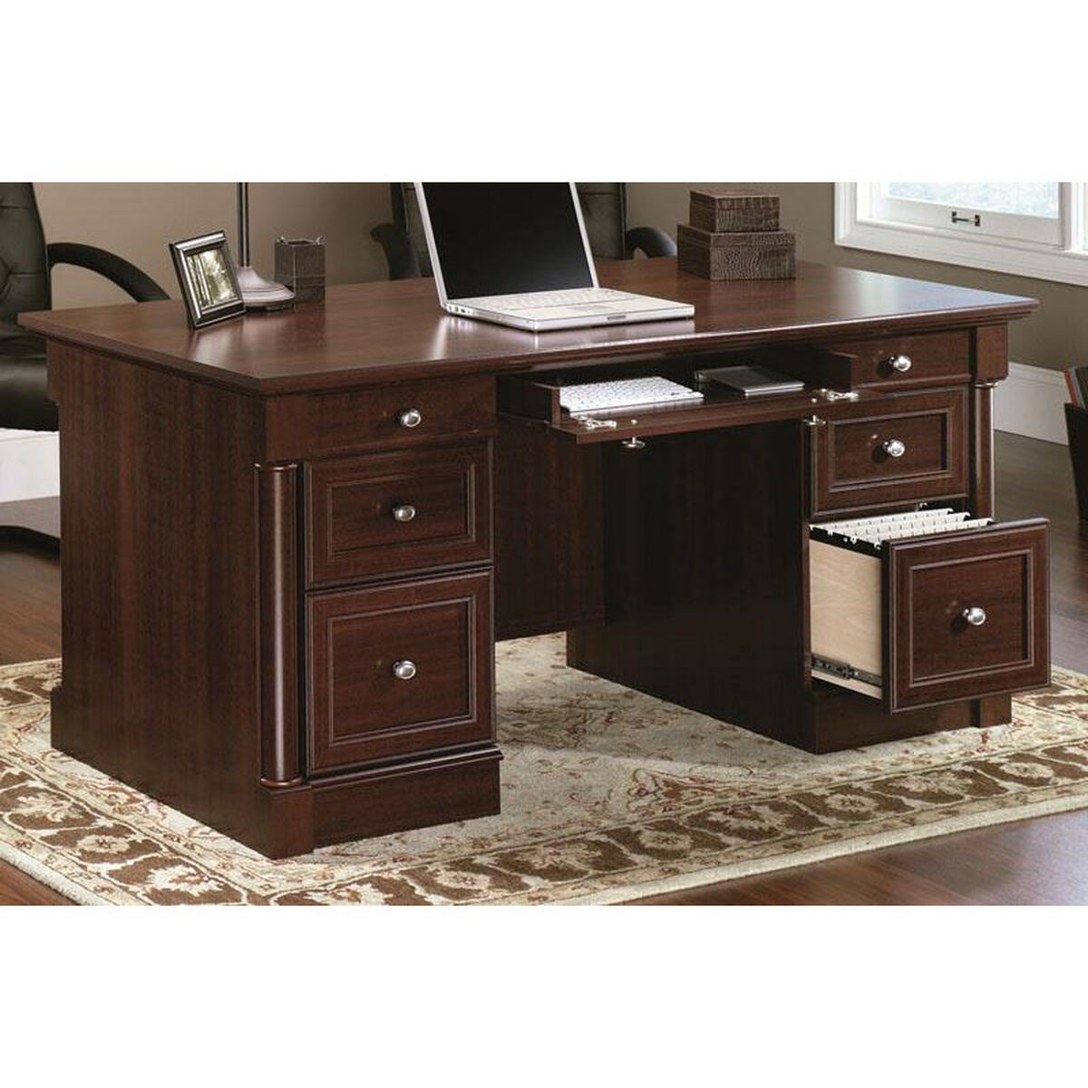Our Palladia 65 125 W Executive Desk Select Cherry Is On Now