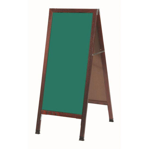 Our A-Frame Sidewalk Green Composition Chalkboard with Cherry Stained Solid Red Oak Frame - 42