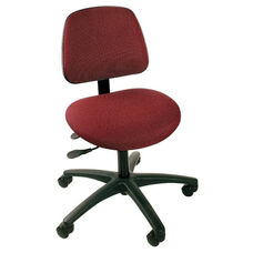 Industrial Cloth ABS Base Task Chair with Dual Wheel Casters and Large Ergo Backrest