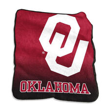University of Oklahoma Team Logo Raschel Throw