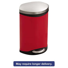 Safco® Step-On Medical Receptacle - 3gal - Red
