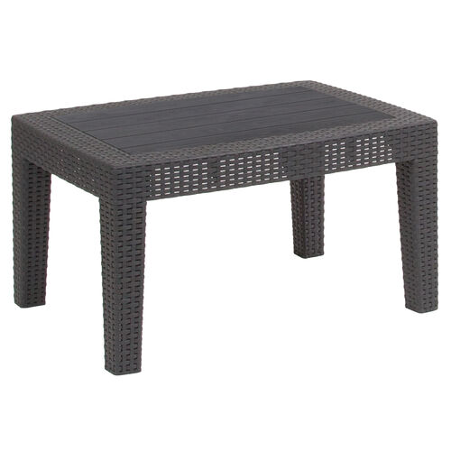 Our Dark Gray Faux Rattan Coffee Table is on sale now.