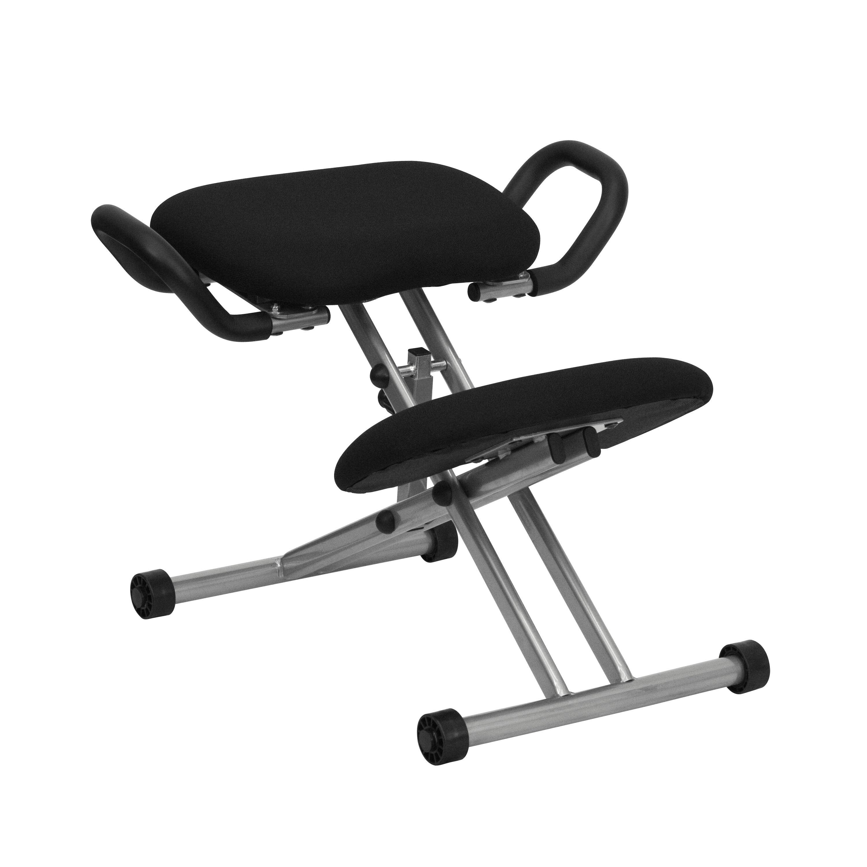 Ergonomic kneeling office chairs Healthy Office Bizchaircom Black Kneeler Chair W Handles Wl1429gg Bizchaircom