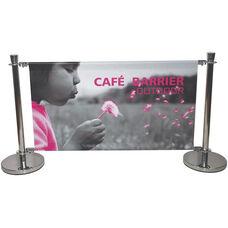 Heavy Duty Stainless Steel Cafe Barrier - 37.6