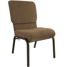 Advantage Jute Church Chair with Book Rack 20.5 in. Wide