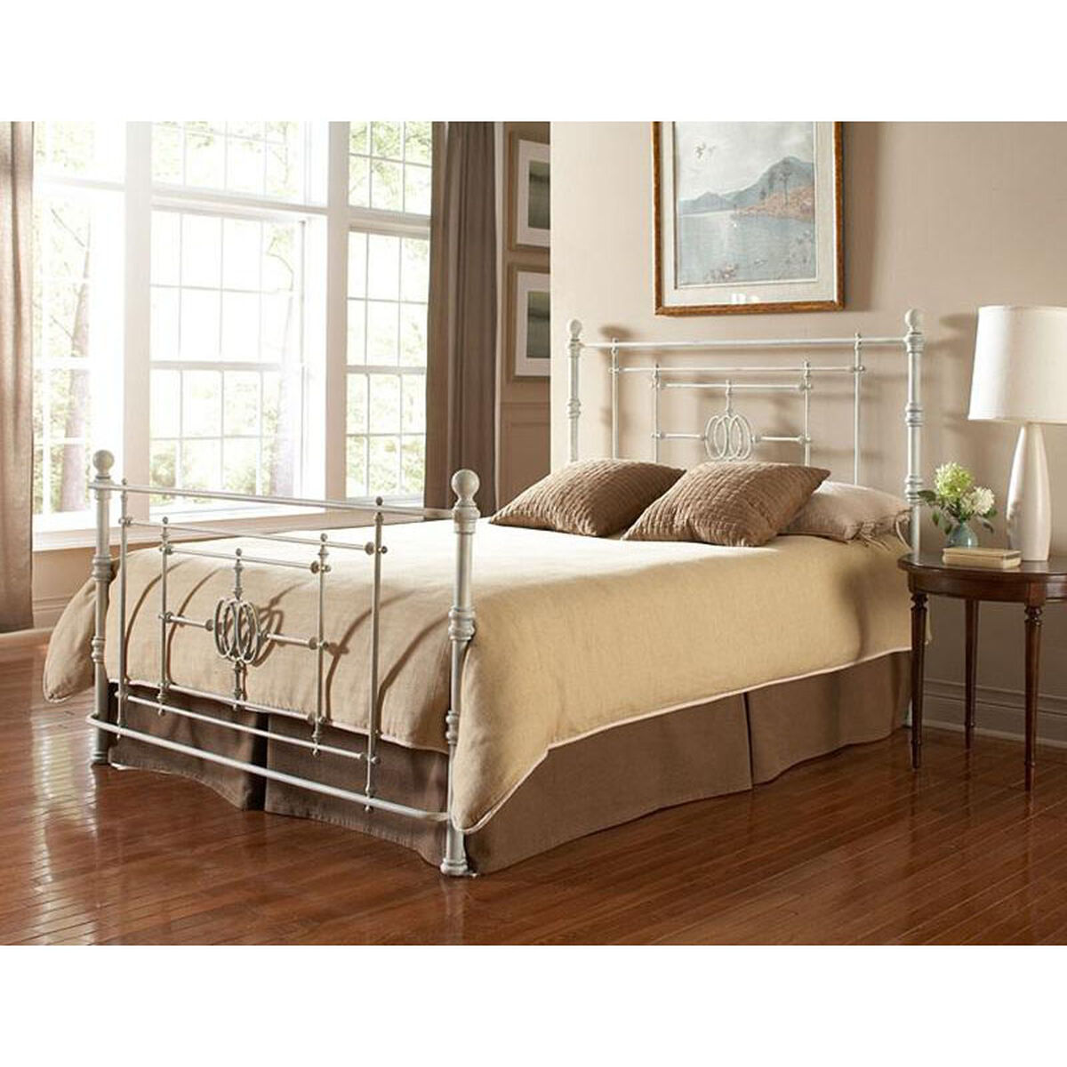 Metal Bed With Frame Queen B11145 Bizchair Com