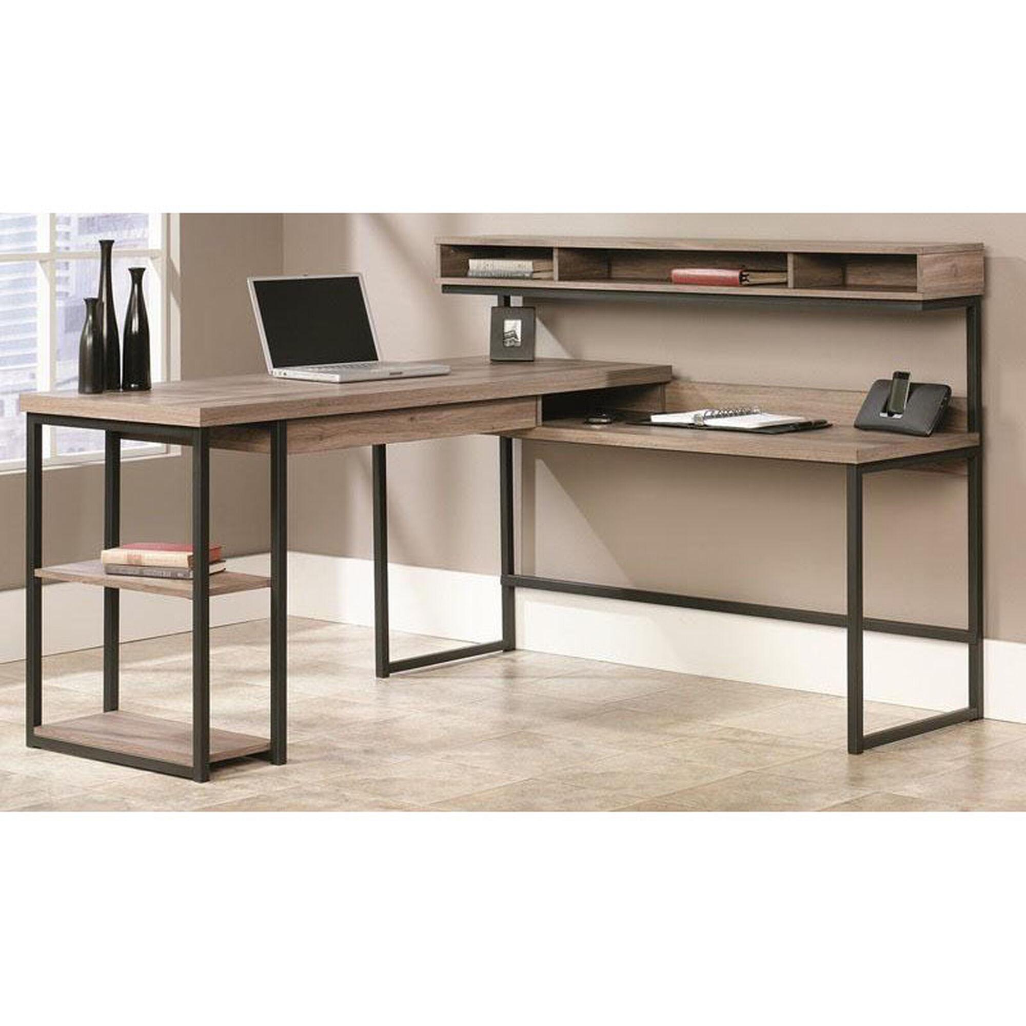 L Shape Desk With Elevated Storage 414417 Bizchair Com
