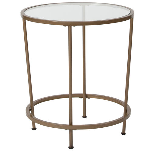 Our Astoria Collection Glass End Table with Matte Gold Frame is on sale now.