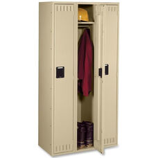 Tennsco Single Tier 3 Column Wide Locker - Sand