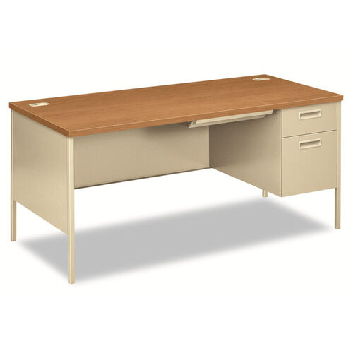 Our HON® Metro Classic Right Pedestal Desk - 66w x 30d - Harvest/Putty is on sale now.