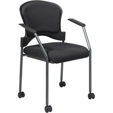 Pro-Line II Upholstered Contour Back Stacking Visitors Chair with Lumbar Support and Casters