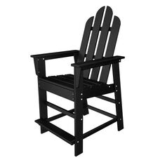 POLYWOOD® Long Island Collection Counter Chair - Black