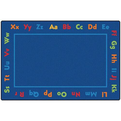Our Kids Value Alphabet Value Rectangular Nylon Rug - 72