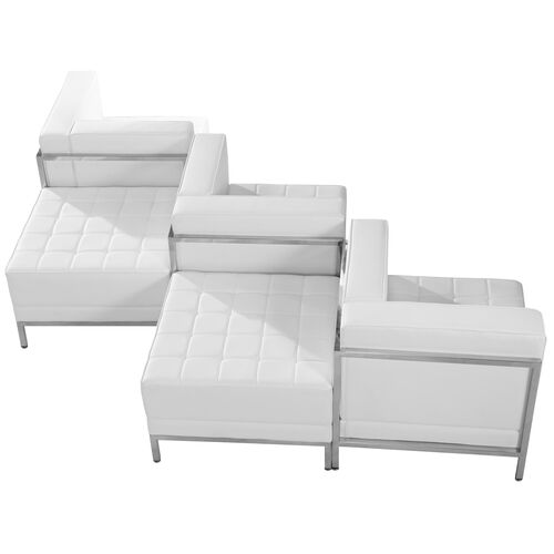 Our HERCULES Imagination Series Melrose White Leather 5 Piece Chair & Ottoman Set is on sale now.
