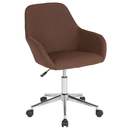 Our Cortana Home and Office Mid-Back Chair in Brown Fabric is on sale now.