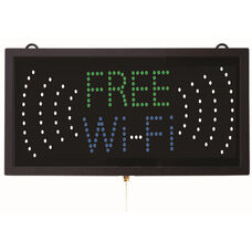 High Visibility LED FREE WI-FI Sign - 9.75