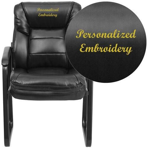 emb black leather side chair go 1156 bk lea emb gg bizchair com