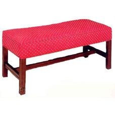 503 Luggage Bench w/ Upholstered Web Seat & Chippendale Legs - Grade 1