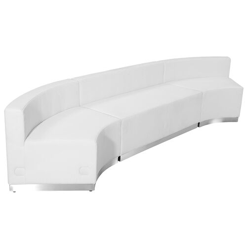 Our HERCULES Alon Series Melrose White LeatherSoft Reception Configuration, 3 Pieces is on sale now.