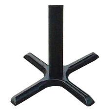 Cast Iron Table Base Set with Bar Stool Height Column - Black